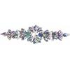 Crystal Motifs Floral 18cm Vitrail Purple Aurora Borealis/gunmetal